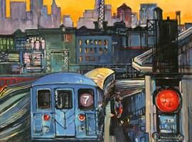 Obraz do salonu artysty Piotr Rembieliński pod tytułem New York City evening