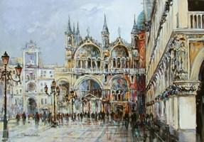 Obraz do salonu artysty Piotr Rembieliński pod tytułem Wenecja, Plac Świętego Marka
