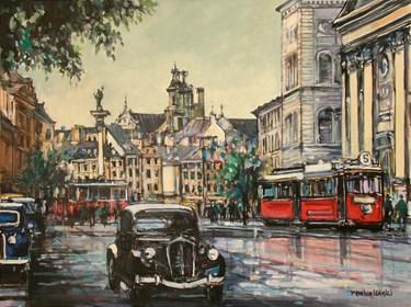 Obraz do salonu artysty Piotr Rembieliński pod tytułem Warszawa Plac Zamkowy
