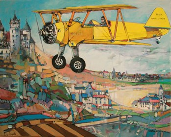 Obraz do salonu artysty Piotr Rembieliński pod tytułem Do Ciebie lecę