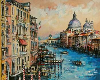 Obraz do salonu artysty Piotr Rembieliński pod tytułem Wenecja Canal Grande