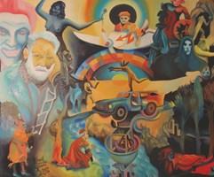 Obraz do salonu artysty Piotr Urbanek pod tytułem Człowiek śmiechu