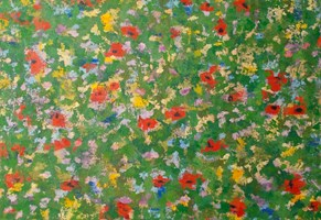Living room painting by Danuta Niklewicz titled Meadow
