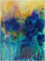 Living room painting by Joanna Sadecka titled Emanation - luxure