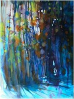 Living room painting by Joanna Sadecka titled Ilumination