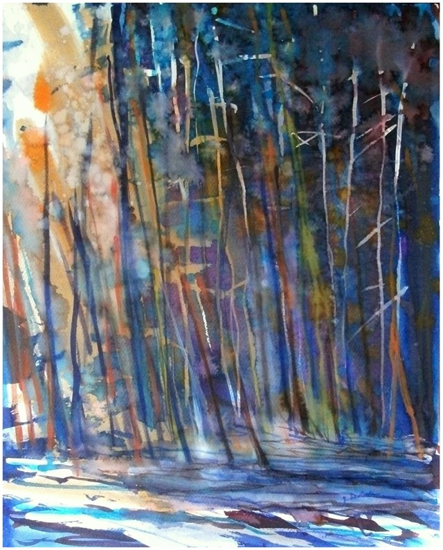 Obraz do salonu artysty Joanna Magdalena pod tytułem Iluminacje-ciąg zdarzeń