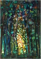 Obraz do salonu artysty Joanna Sadecka pod tytułem Drzwi do lasu