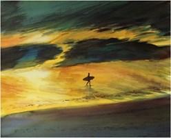 Obraz do salonu artysty Joanna Sadecka pod tytułem Biscarosse koniec dnia