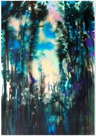 Obraz do salonu artysty Joanna Magdalena pod tytułem Iluminacje-zorza