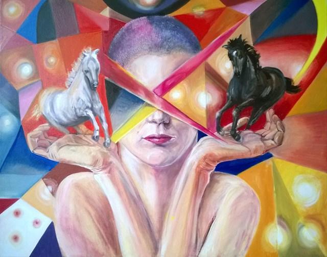 Obraz do salonu artysty Katarzyna Rymarz pod tytułem Dylemat