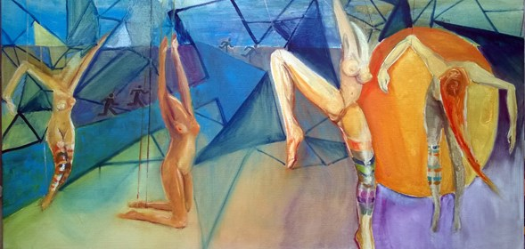 Obraz do salonu artysty Katarzyna Rymarz pod tytułem Marionetki