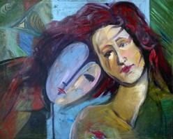 Obraz do salonu artysty Katarzyna Rymarz pod tytułem Portret w błękicie
