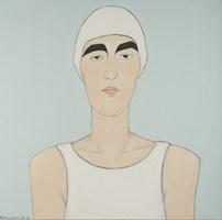 Obraz do salonu artysty Paulina Korbaczyńska pod tytułem Nieziemskiej urody Jadwiga. Zawodowa pływaczka