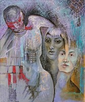 Obraz do salonu artysty Anna Lupa-Suchy pod tytułem Fiolet