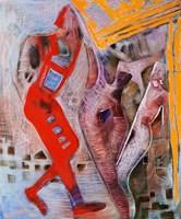 Obraz do salonu artysty Anna Lupa-Suchy pod tytułem Czerwień