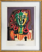 "Living room print by Pablo Picasso titled ""Le Corsage Raye"" (1978)"