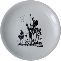 Living room Other by Pablo Picasso titled Don Quixote, a plate from the Salin France label, circa 1960