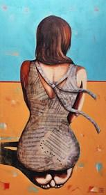 Obraz do salonu artysty Renata Magda pod tytułem W stronę zachodzącego słońca