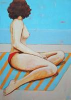 Obraz do salonu artysty Renata Magda pod tytułem A ona czeka ...