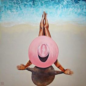Obraz do salonu artysty Renata Magda pod tytułem Spotkanie na plaży ...