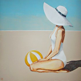 Obraz do salonu artysty Renata Magda pod tytułem Spotkanie na plaży II
