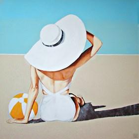 Obraz do salonu artysty Renata Magda pod tytułem Spotkanie na plaży V