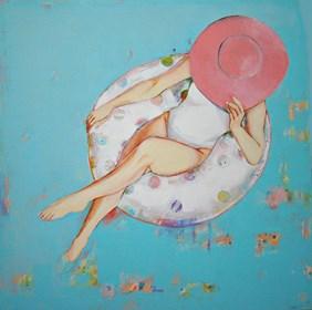 Obraz do salonu artysty Renata Magda pod tytułem kiedy myśli płyną ...