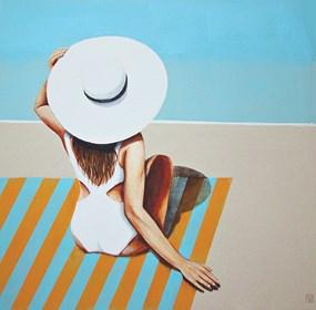 Obraz do salonu artysty Renata Magda pod tytułem Spotkanie na plaży VII