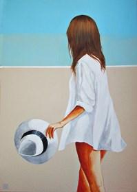 Obraz do salonu artysty Renata Magda pod tytułem Spotkanie na plaży
