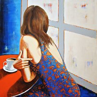 Living room painting by Renata Magda titled  In the morning II