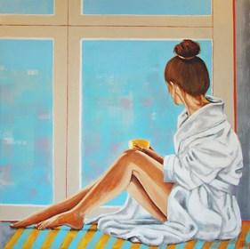 Obraz do salonu artysty Renata Magda pod tytułem On the window