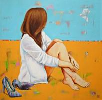 Obraz do salonu artysty Renata Magda pod tytułem Zamyślona nad snem ...