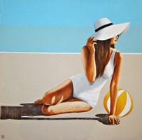 Obraz do salonu artysty Renata Magda pod tytułem Spotkanie na plaży VIII