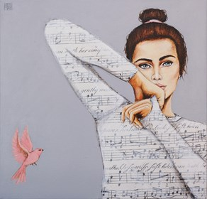 Obraz do salonu artysty Renata Magda pod tytułem Zaklęta w dźwiękach