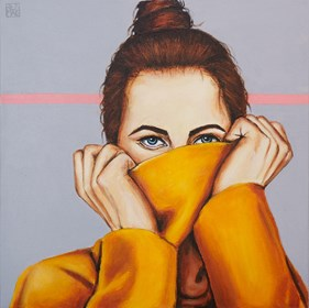 Obraz do salonu artysty Renata Magda pod tytułem Ukryte spojrzenia