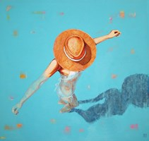 Obraz do salonu artysty Renata Magda pod tytułem Zanużona w błękicie III