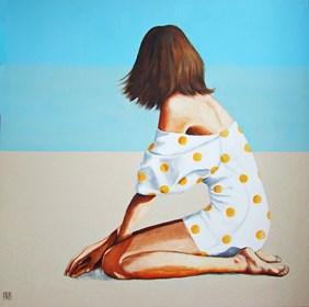 Obraz do salonu artysty Renata Magda pod tytułem Nad brzegiem błękitu ...
