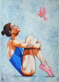 Obraz do salonu artysty Renata Magda pod tytułem Czasoprzestrzeń II