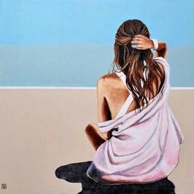 Obraz do salonu artysty Renata Magda pod tytułem Otulona wspomnieniami ...