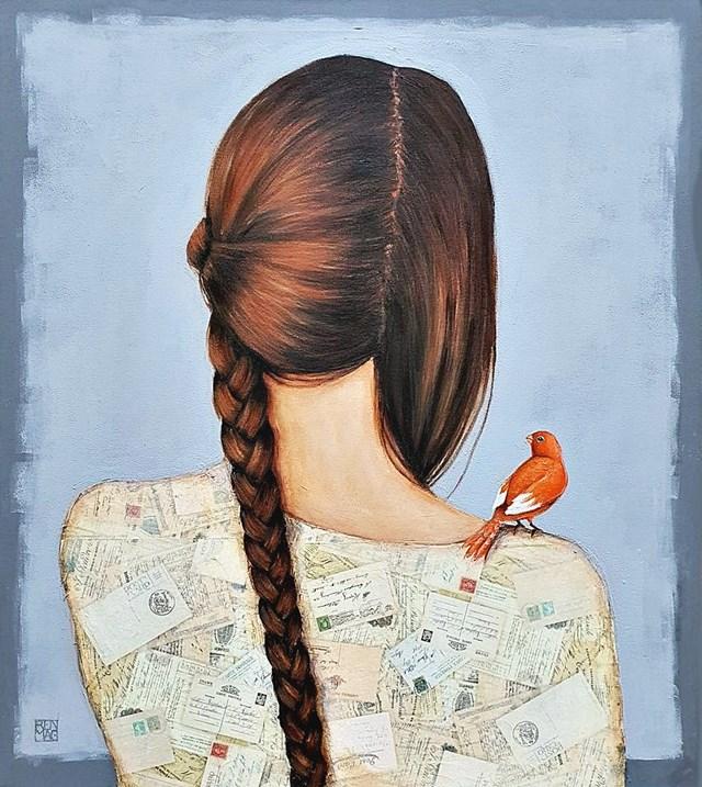 Obraz do salonu artysty Renata Magda pod tytułem Myśli splecione ...