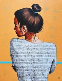 Obraz do salonu artysty Renata Magda pod tytułem Zaklęta w dzwiękach ...