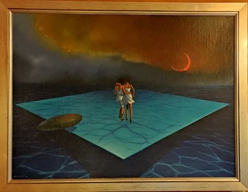 Obraz do salonu artysty Mariusz Zdybał pod tytułem Rok Spokojnego Słońca