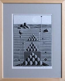 Grafika do salonu artysty Henryk Płóciennik pod tytułem Uroki morza V