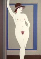 Obraz do salonu artysty Henryk Płóciennik pod tytułem Kobieta w kapeluszu