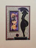 Grafika do salonu artysty Henryk Płóciennik pod tytułem Akt