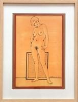 Grafika do salonu artysty Henryk Płóciennik pod tytułem Bez tytułu