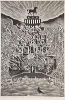 Grafika do salonu artysty Henryk Płóciennik pod tytułem Zamek szwedzki V