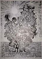 Grafika do salonu artysty Henryk Płóciennik pod tytułem Miodowy miesiąc IA