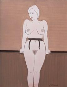 Obraz do salonu artysty Henryk Płóciennik pod tytułem Akt kobiecy 4