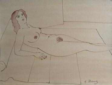 Obraz do salonu artysty Henryk Płóciennik pod tytułem Akt kobiecy 6